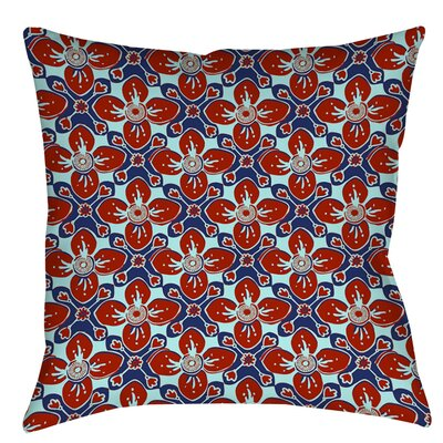 Anna Medallion 4 Indoor/Outdoor Throw Pillow Size: 16 H x 16 W x 4 D, Color: Crimson