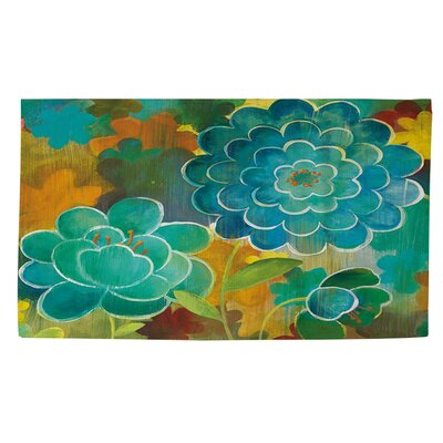Aqua Bloom Area Rug Rug Size: 4 x 6