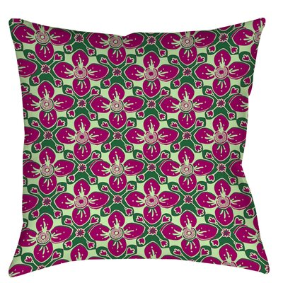Anna Medallion 4 Printed Throw Pillow Size: 14 H x 14 W x 3 D, Color: Berry