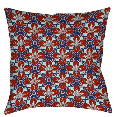 Anna Medallion 4 Printed Throw Pillow Size: 26 H x 26 W x 7 D, Color: Crimson