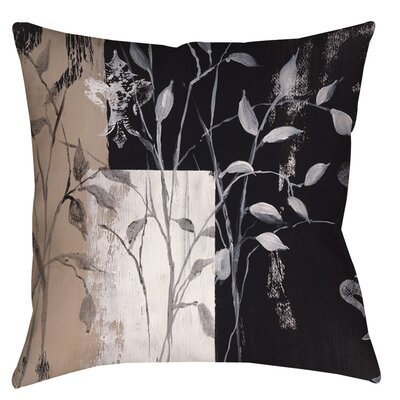 African Leaf Abstract Indoor/Outdoor Throw Pillow Size: 16 H x 16 W x 4 D