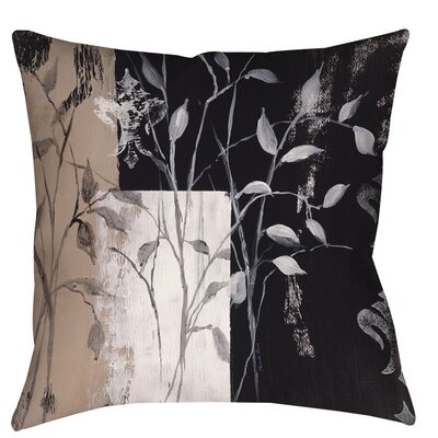 African Leaf Abstract Printed Throw Pillow Size: 26 H x 26 W x 7 D