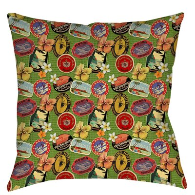Aloha Indoor/Outdoor Throw Pillow Size: 16 H x 16 W x 4 D