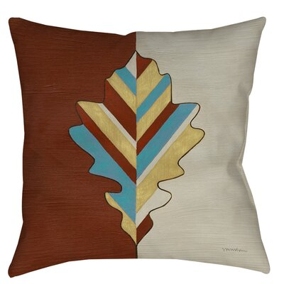 Apache Leaf 4 Indoor/Outdoor Throw Pillow Size: 16 H x 16 W x 4 D