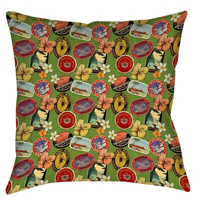 Aloha Printed Throw Pillow Size: 14 H x 14 W x 3 D