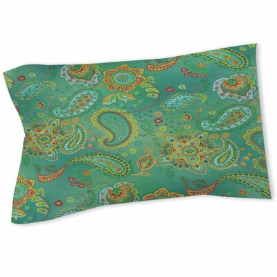 Aqua Bloom Paisley Sham Size: Twin, Color: Blue
