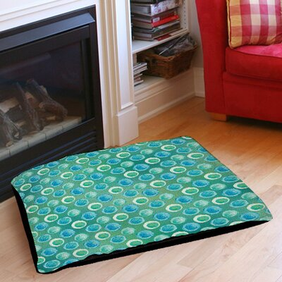 Aqua Bloom Dots Pet Bed Size: 40 L x 30 W