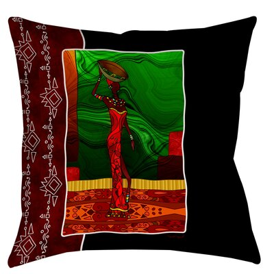 Sebrite Graphic Print Indoor/Outdoor Throw Pillow Size: 16 H x 16 W x 4 D