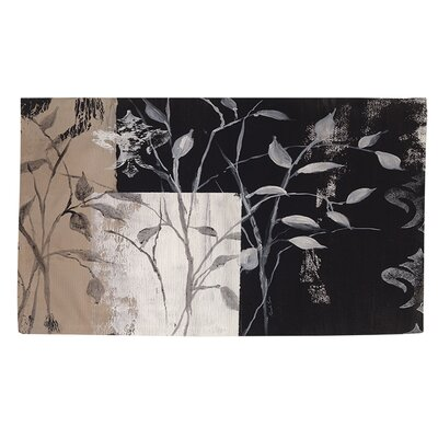 African Leaf Abstract Area Rug Rug Size: 4 x 6