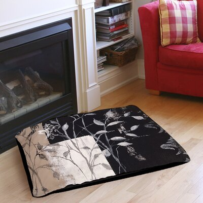 African Leaf Abstract Pet Bed Size: 40 L x 30 W