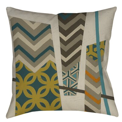 Abstract Scrapbook 1 Indoor/Outdoor Throw Pillow Size: 16 H x 16 W x 4 D