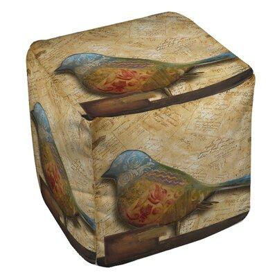 Printed Pouf Bird Ottoman
