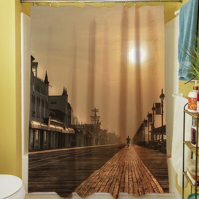 Boardwalk Sunrise Shower Curtain