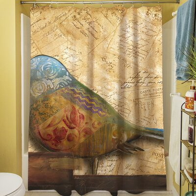Bird Printed Shower Curtain