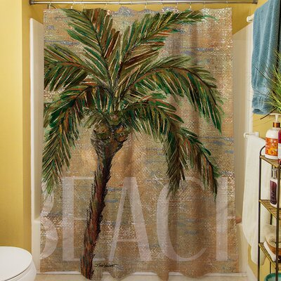Beach Palm Shower Curtain