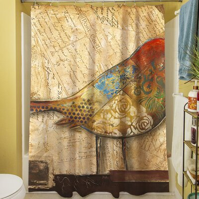 Bird Shower Curtain with 12 Button Holes