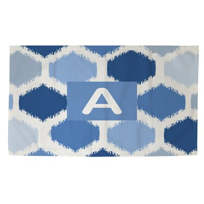 Batik Monogram Blue Area Rug