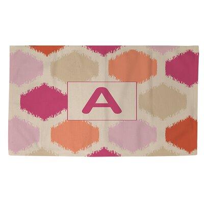 Batik Monogram Pink Area Rug