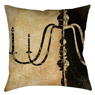 Chandelier 2 Indoor/Outdoor Throw Pillow Size: 18 H x 18 W x 5 D
