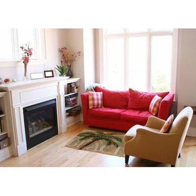 Swansea Green/Sand Area Rug Rug Size: 4 x 6