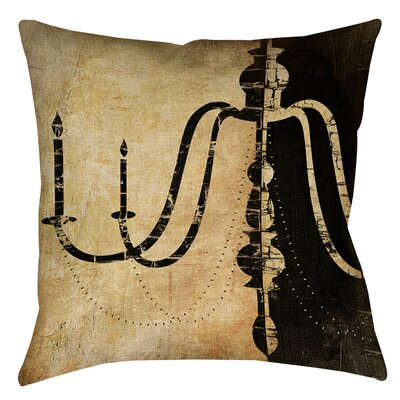 Chandelier 2 Printed Throw Pillow Size: 26