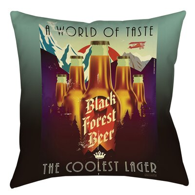 Black Forest Beer Indoor/Outdoor Throw Pillow Size: 16 H x 16 W x 4 D