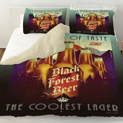 Black Forest Beer Duvet Cover Size: Queen