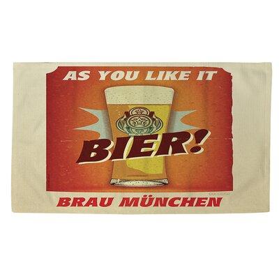 Bier Brau Munchen Orange Area Rug Rug Size: 2 x 3