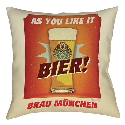 Bier Brau Munchen Printed Throw Pillow Size: 20