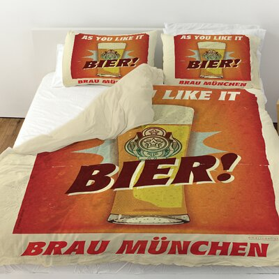 Bier Brau Munchen Duvet Cover Size: Queen