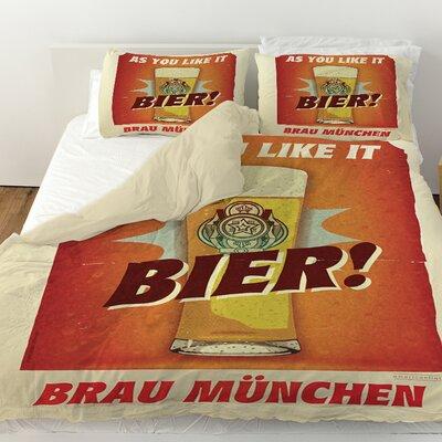 Bier Brau Munchen Duvet Cover Size: Twin