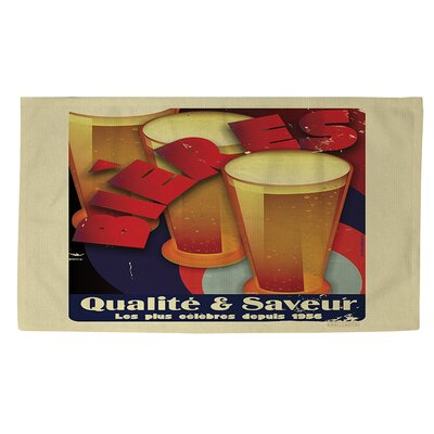 Bieres Qualite and Saveur Area Rug Rug Size: 2 x 3