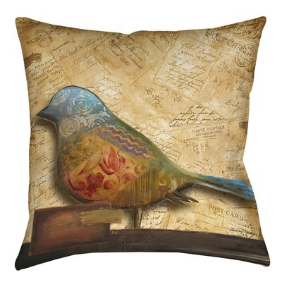 Square Bird Printed Throw Pillow Size: 26 H x 26 W x 7 D