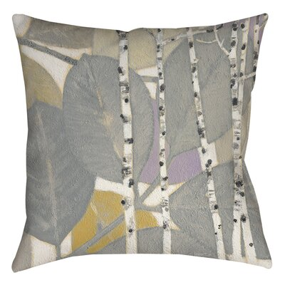Birch Leaf 1 Indoor/Outdoor Throw Pillow Size: 20 H x 20 W x 5 D