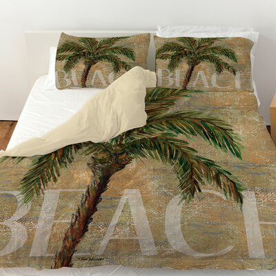 Beach Palm Duvet Cover Size: King