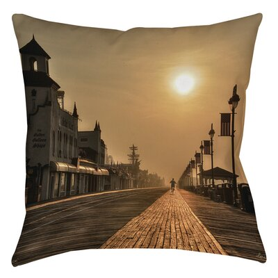 Boardwalk Sunrise Printed Throw Pillow Size: 16 H x 16 W x 4 D