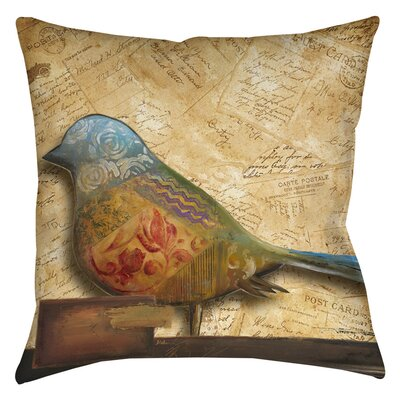 Square Bird Indoor/Outdoor Throw Pillow Size: 16