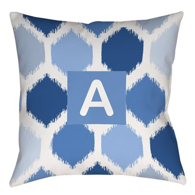 Batik Monogram Printed Throw Pillow