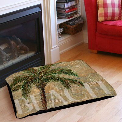 Beach Palm Indoor/Outdoor Pet Bed Size: 28 L x 18 W