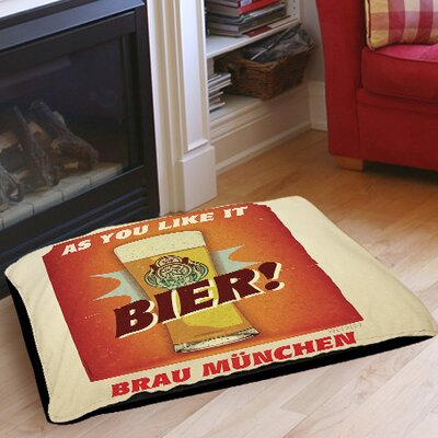 Bier Brau Munchen Indoor/Outdoor Pet Bed Size: 28 L x 18 W