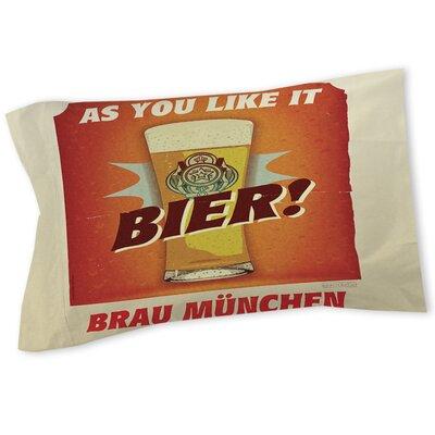 Bier Brau Munchen Sham Size: Queen/King