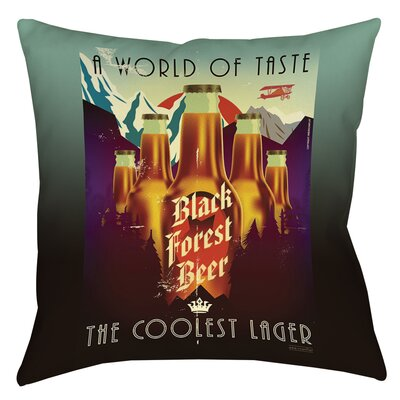 Forest Beer Printed Throw Pillow Size: 14 H x 14 W x 3 D