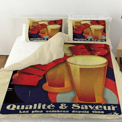 Bieres Qualite and Saveur Duvet Cover Size: King