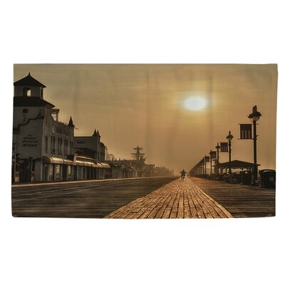Boardwalk Sunrise Sepia Area Rug Rug Size: 4 x 6