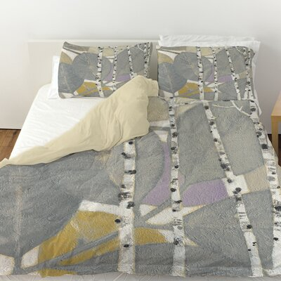 Birch Leaf 1 Duvet Cover Size: Queen