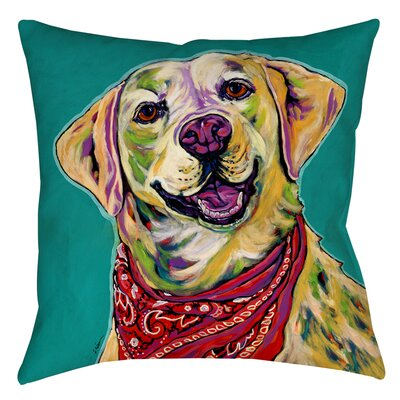 Boca Printed Throw Pillow Size: 16 H x 16 W x 4 D