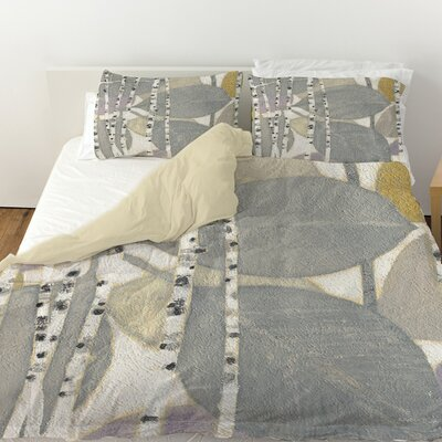 Birch Leaf 2 Duvet Cover Size: Twin