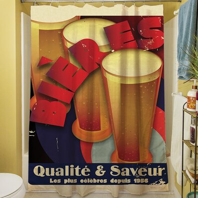 Bieres Qualite and Saveur Shower Curtain