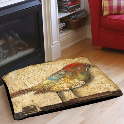Bird of Collage 2 Indoor/Outdoor Pet Bed Size: 28 L x 18 W
