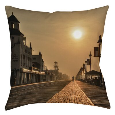 Boardwalk Sunrise Indoor/Outdoor Throw Pillow Size: 16 H x 16 W x 4 D